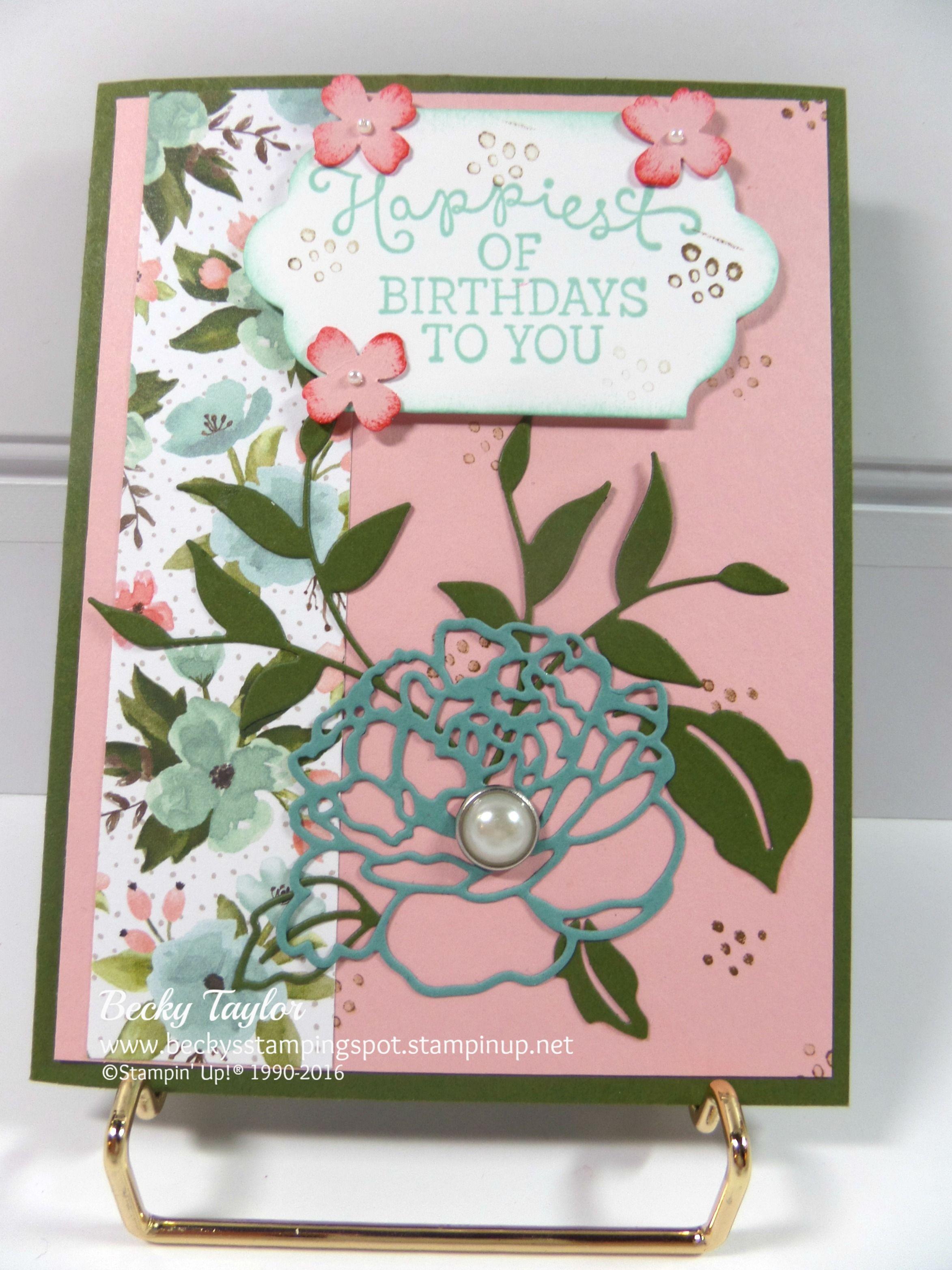 Birthday Blooms, Birthday Bouquet DSP stampinup