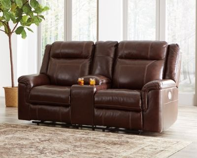 Groovy Wyline Power Reclining Loveseat With Console By Ashley Pdpeps Interior Chair Design Pdpepsorg