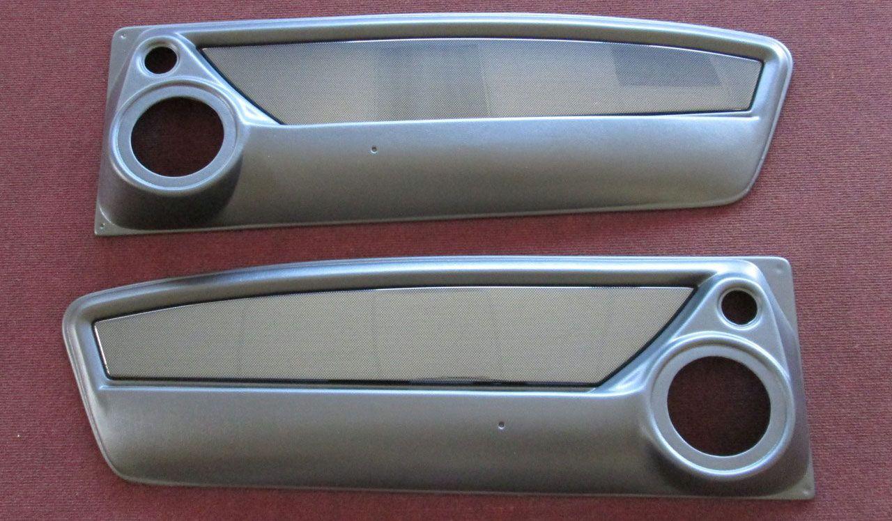 65 66 67 68 mustangs to fear door panels custom mustang fastback speaker brushed aluminum panel