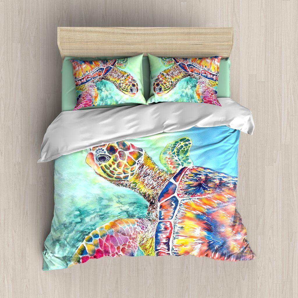 Turtle Bedding Set | Sea Turtles in 2019 | Bed, Linen ...