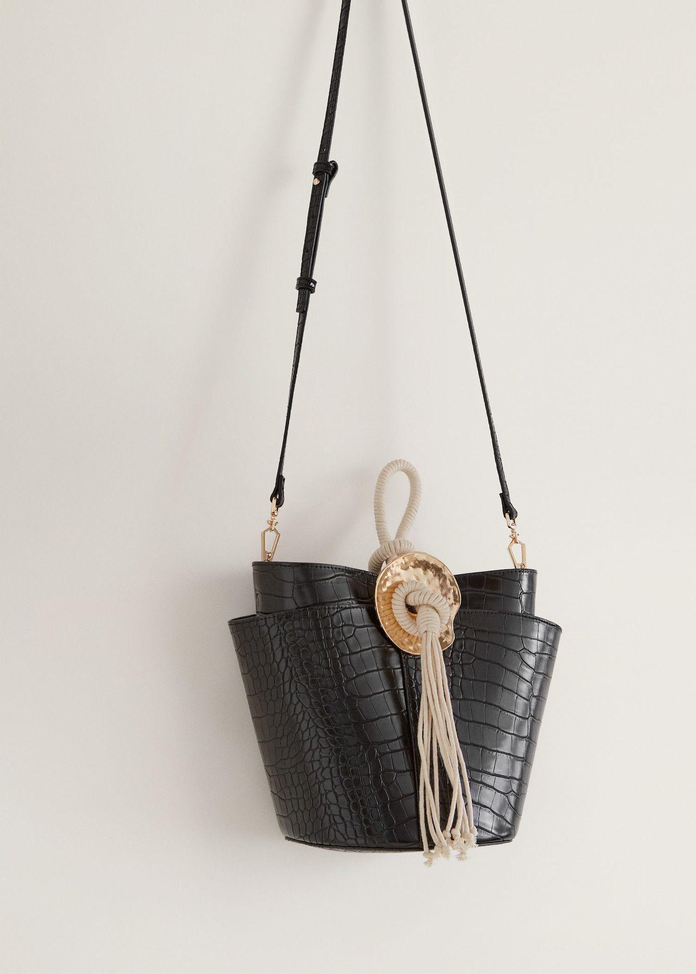 5914da5beaf Croc-effect bucket bag - Women in 2019   Bucket Bags for Women ...