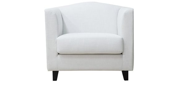 Sensational Florianopolis One Seater Sofa In Pearl White Colour By Caraccident5 Cool Chair Designs And Ideas Caraccident5Info