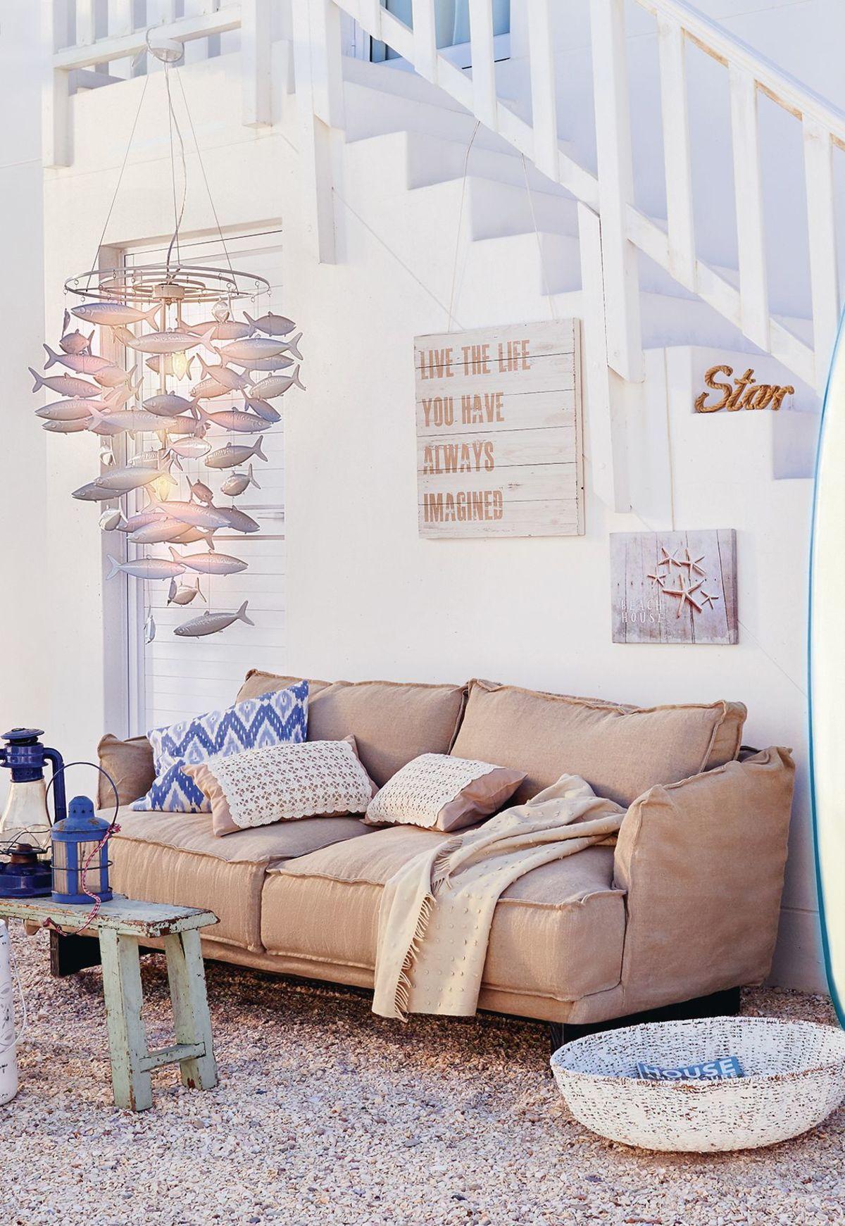 Sofa 2 5 sitzer abnehmbare husse shabby chic - Wanddekoration shabby chic ...