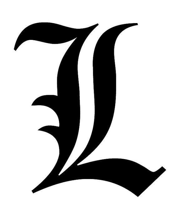 Death Note L Vinyl Sticker https://www.etsy.com/listing ...