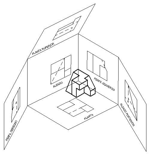 Dibujo Tecnico Tipos De Proyecciones Tecnicas De Dibujo Vistas Dibujo Tecnico Dibujo Tecnico Arquitectonico
