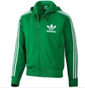 felpa zip adidas verde