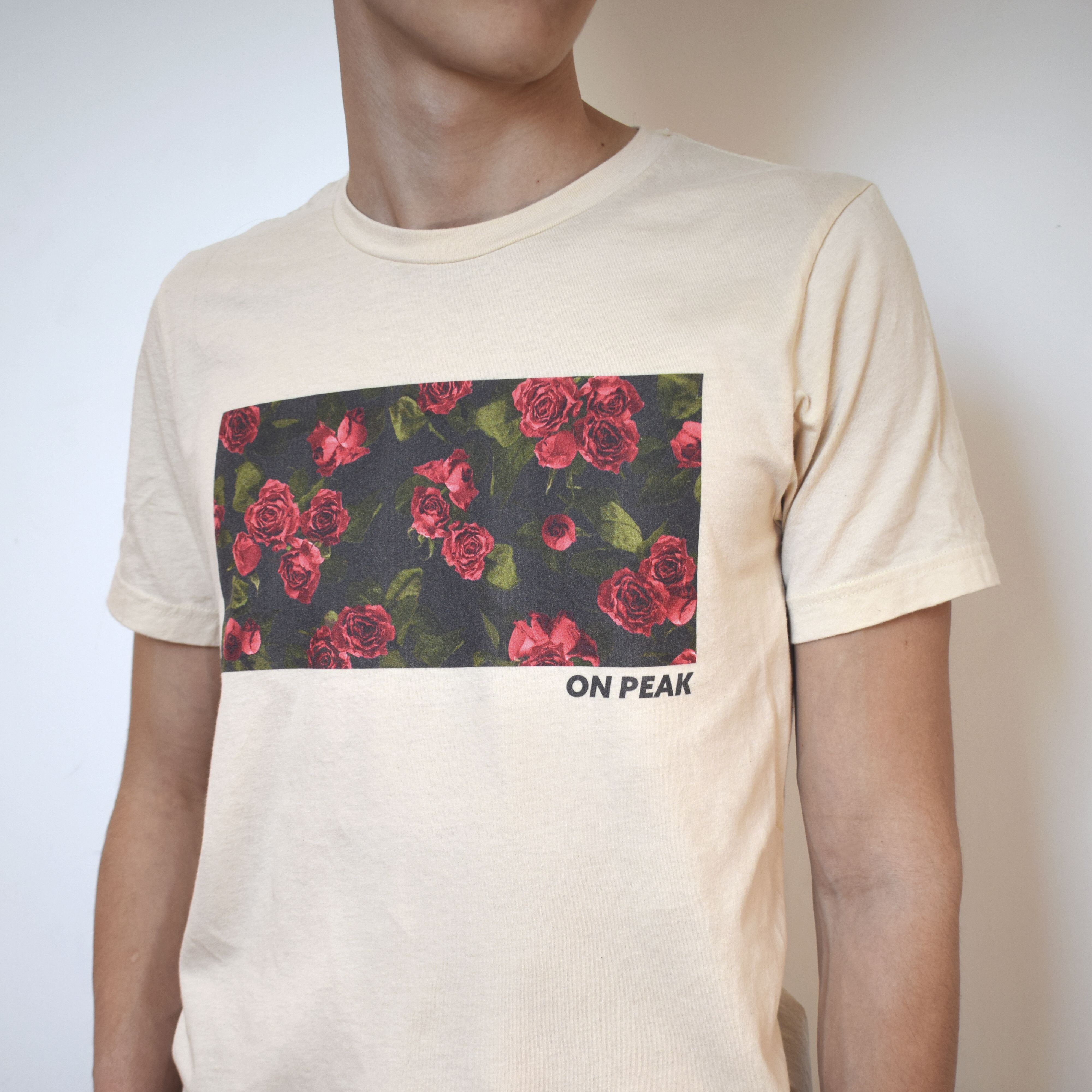 Roses Floral Unisex T Shirt Indie Graphic Print Aesthetic Tee Beige Summer Shirt Urban Outfitters Printed Shirts Printed Tees Black Graphic Tees