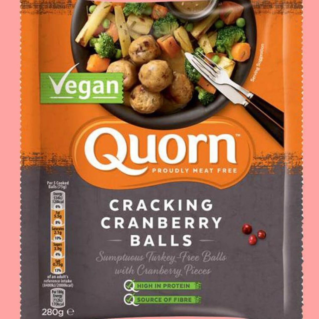 Vegetarian Meat Brand Quorn Launches Festive Vegan Turkey Cracking Cranberry Balls Quorn Vegan Turkey Vegan Supermarket