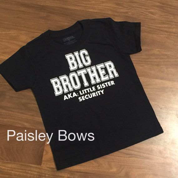 ee7da21f Big Brother aka little sister security by PaisleyBows on Etsy   Ryan ...