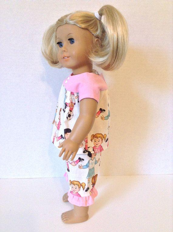 18 Inch Doll Pajamas, Light Weight Cotton , Summer Nightwear | Doll ...