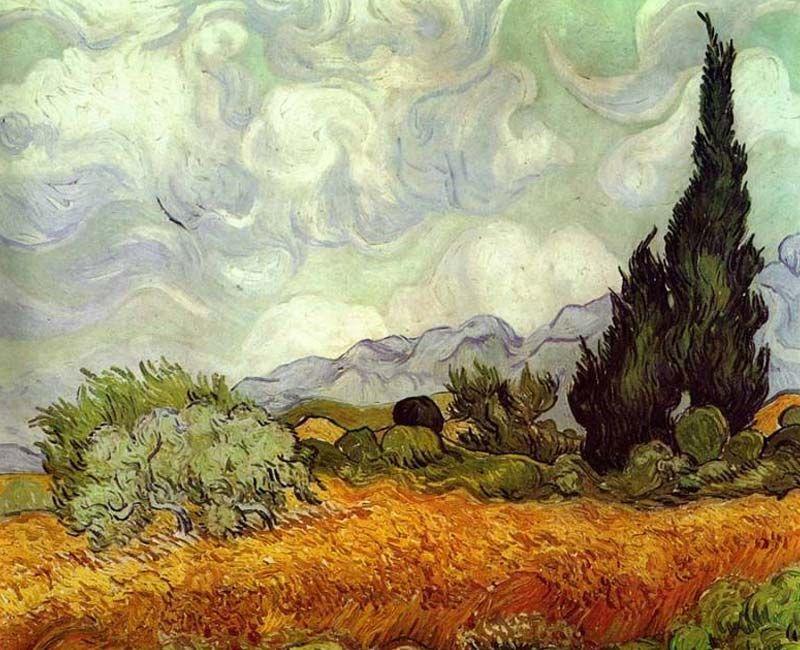 لوحة حقل القمح لفنسنت فان جوخ Van Gogh Art Van Gogh Paintings Vincent Van Gogh