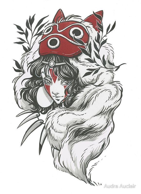 Mononoke Tattoo Wzory Tatuaży Rysunki Tatuaże
