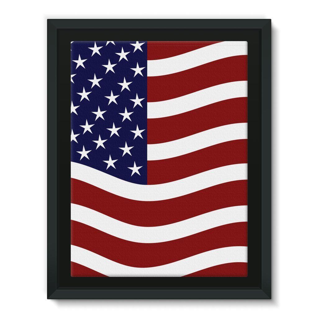 Waving USA Flag Framed Canvas | Framed canvas, Usa flag and Flags