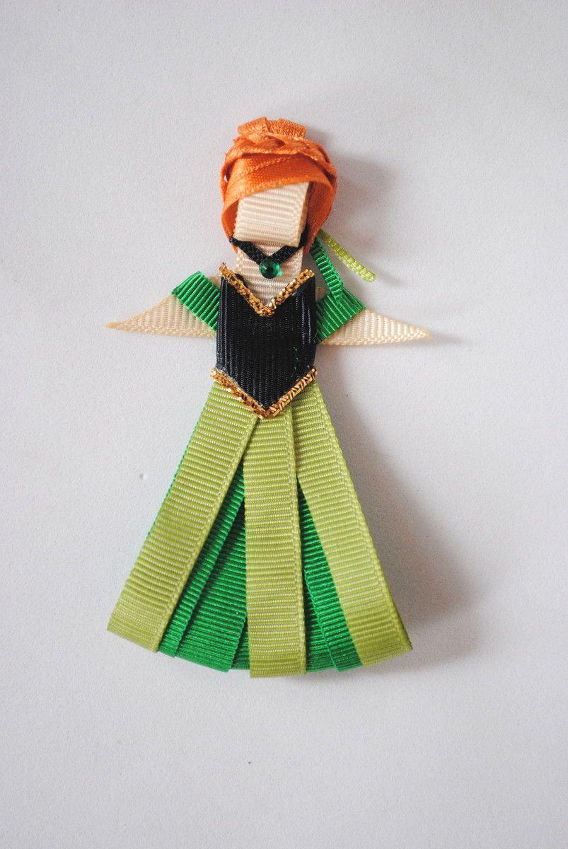 Ana de frozen vestido verde