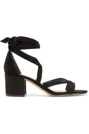 8a231f694a1 SAM EDELMAN WOMAN SHERI LACE-UP SUEDE SANDALS BLACK.  samedelman  shoes