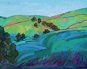 California Oaks Impressionist Landscape Original Oil Painting 48x36