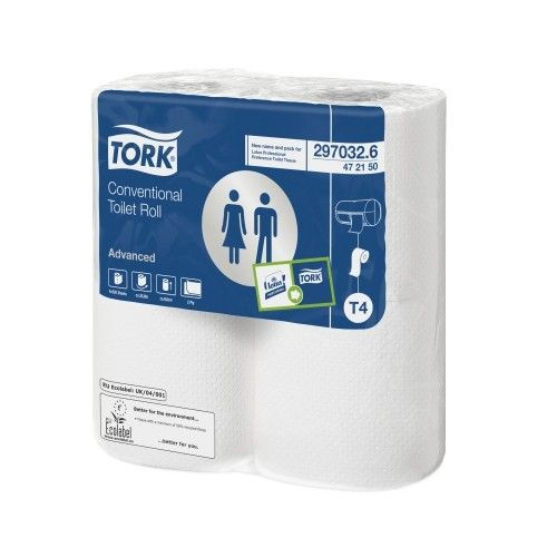 Tork 297032 Advanced Conventional Toilet Roll 2 Ply 320 Sheets
