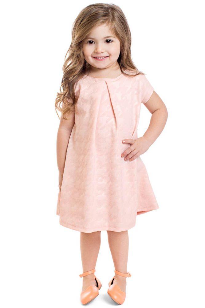 d1ea7fd443b Chloe Modest Little Girl Dress in Pink