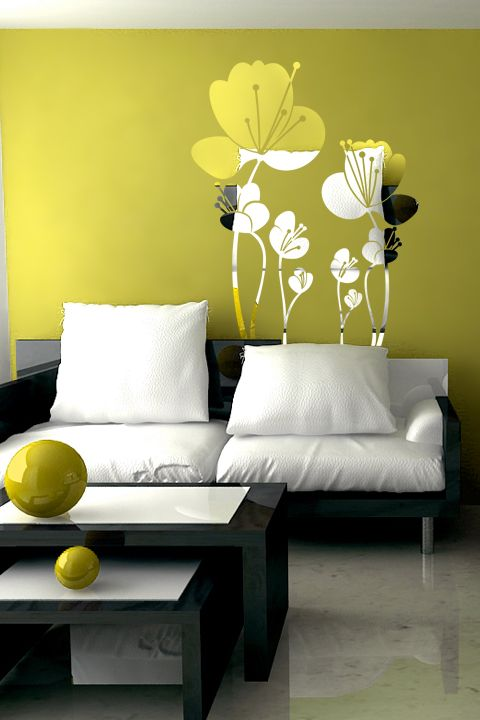 Lovely Flowers 1 Reflective Wall Decal by WALLTAT.com | my home ...