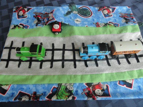 Thomas Train Car Caddy Roll Up Play Mat Fun Kid Stuff