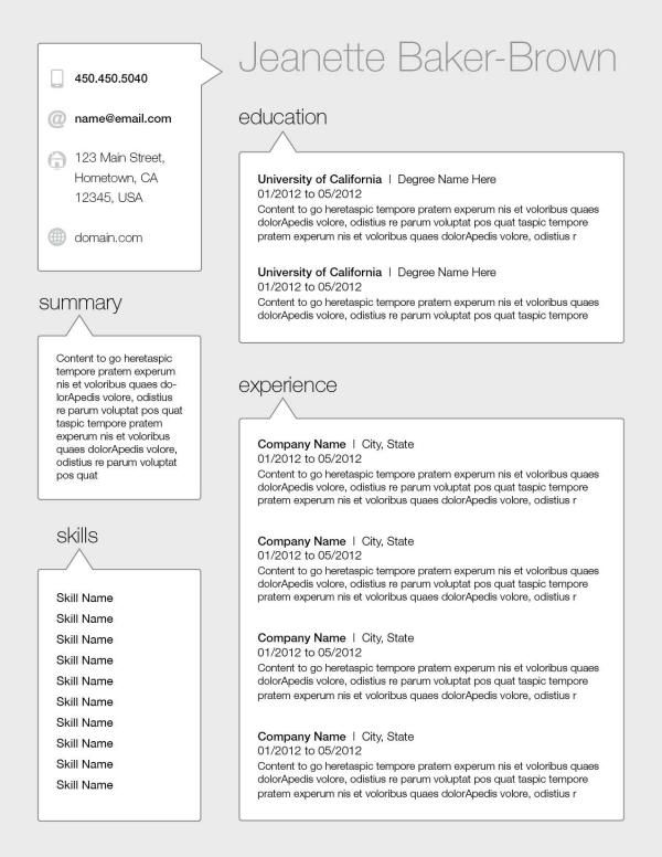 Resume design by S Holstein at Firstjob NOW- just go find your job - resume first job