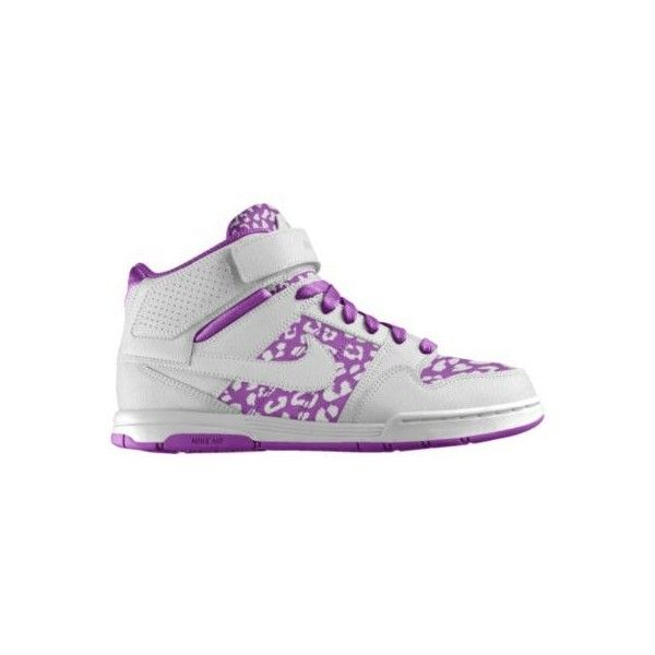 Circunstancias imprevistas apetito Marco de referencia  Nike Air Mogan Mid 2 iD Custom Women's Shoes - White, 5Y ($110) ❤ liked on  Polyvore featuring shoes, nike, nike shoes, party sho… | Animal shoes, Shoes,  Party shoes