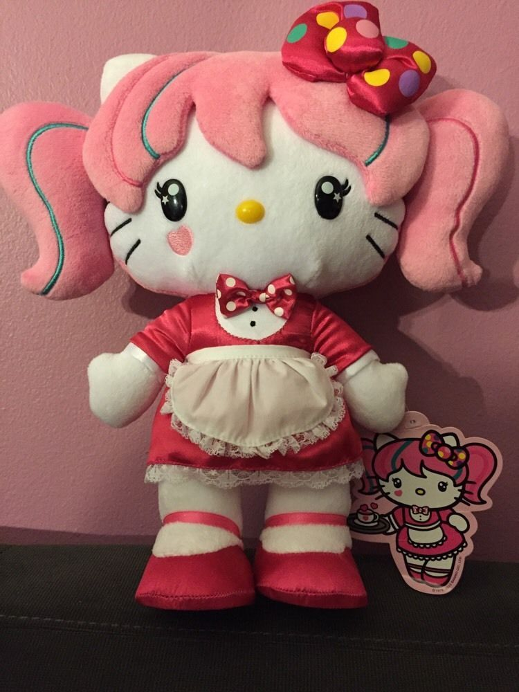 e3712db93 New Hello Kitty Con Collectible Plush Doll Japanimation Japan Pink Sanrio |  eBay