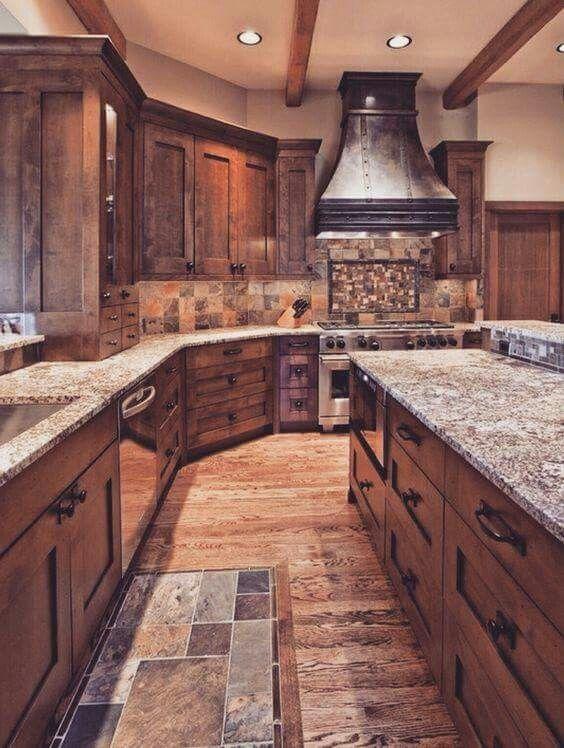 Love the dark wood! | House ideas | Pinterest | Diseños de cosinas ...