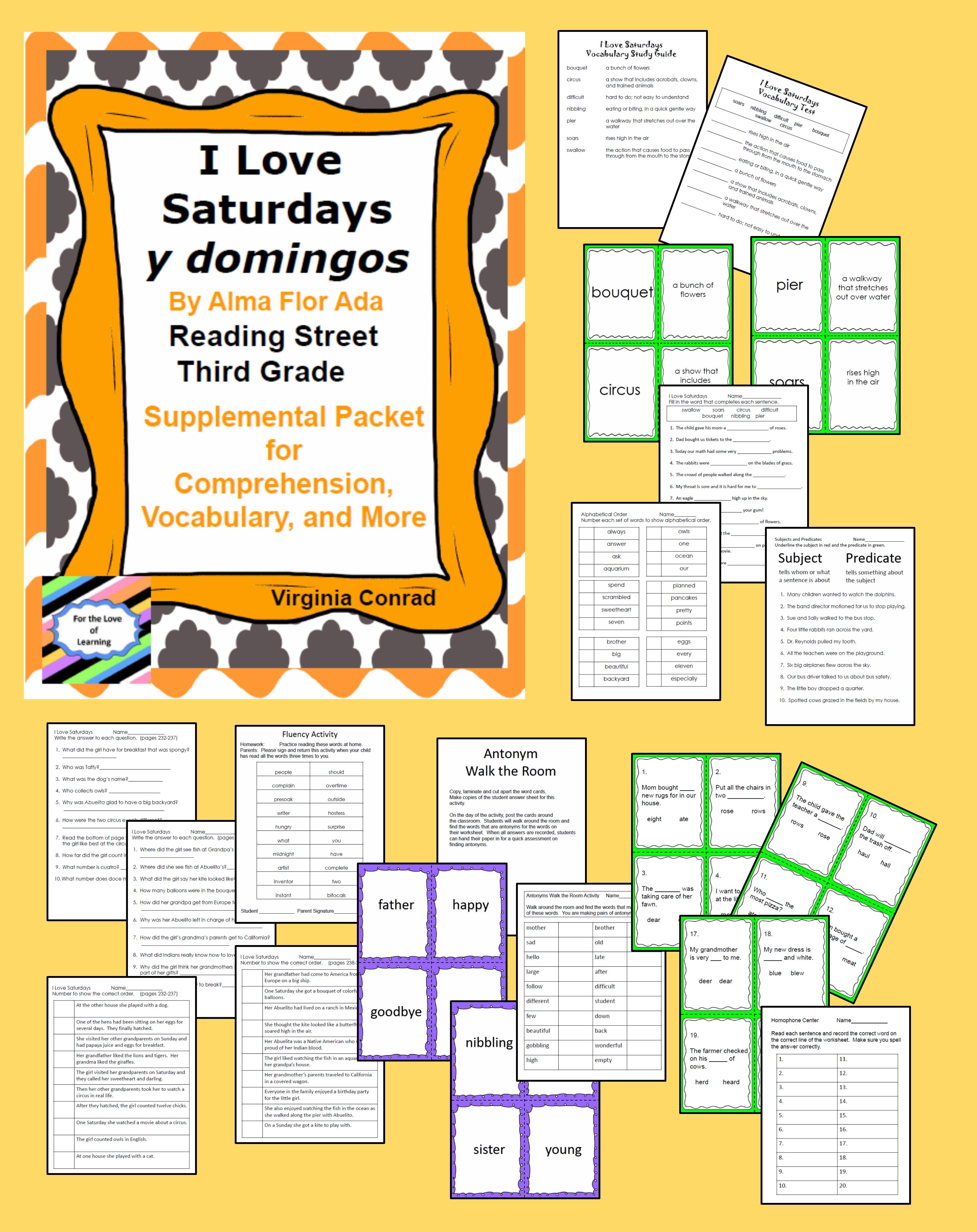 I Love Saturdays Supplemental Packet Third Grade Reading