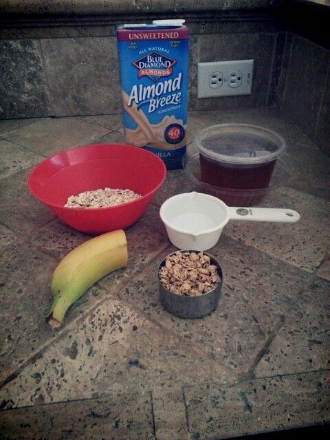 (Chocolate) Oat Meal  1/2 c. Rolled Oats 1/2 c. Water - room temperature 1/2 c. Almond milk * sub. for regular milk 1/3 c. Granola * optional 1/2 Banana- cut into slices 1 Tbs. Local honey (helps you for your allergies) 1 Tbs. Nutella * optional (for a day you need a sweet treat!)  1) Soak oats in water for 5 min. 2) Drain water from oat 3) P...