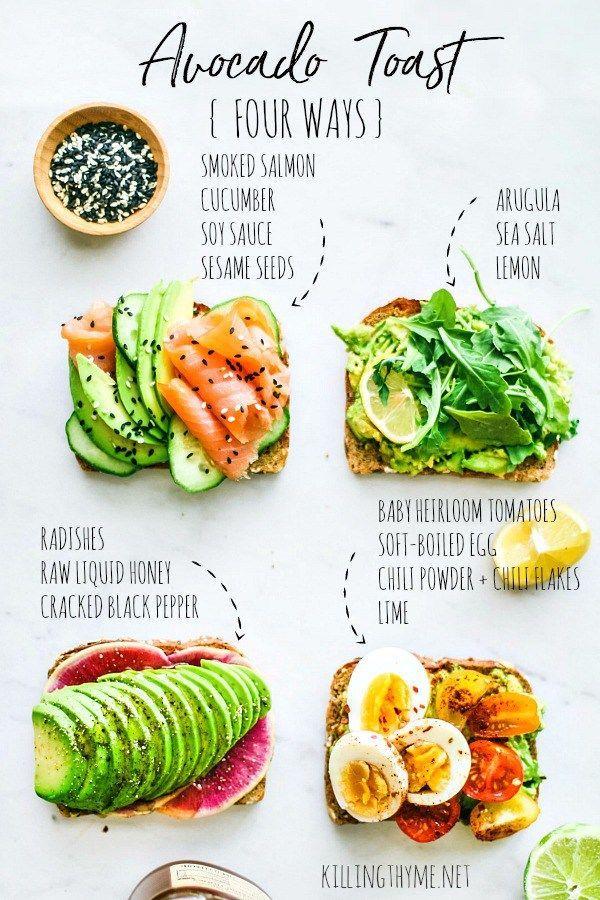 How to Make Avocado Toast Four Ways