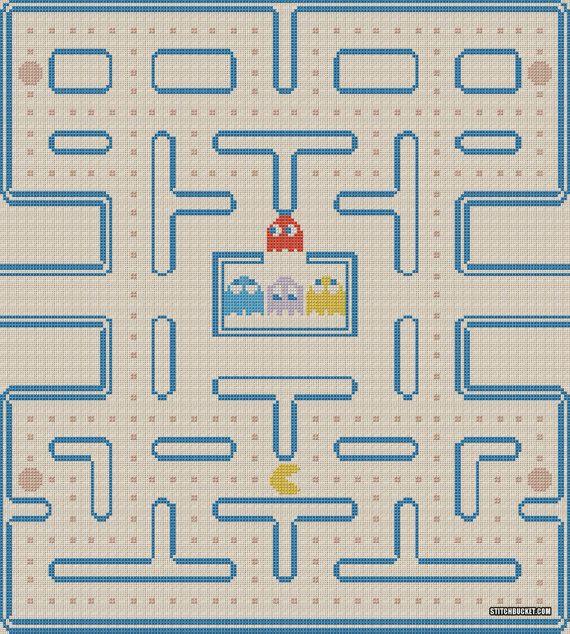 Pac Man Cross Stitch Pattern