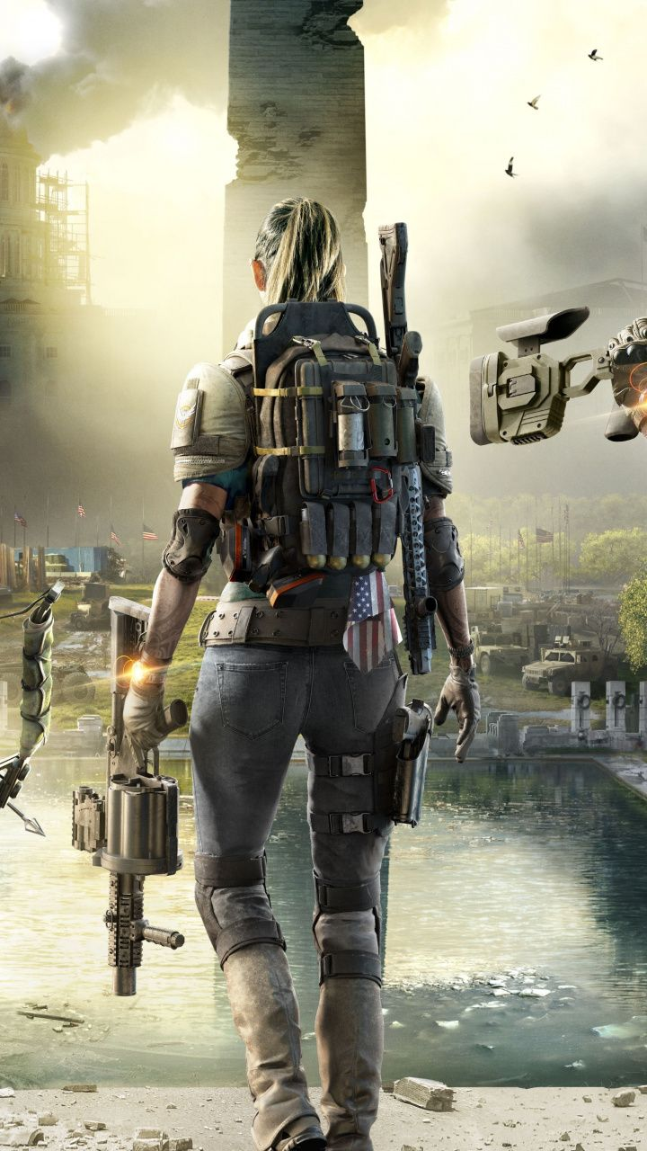 Tom Clancy's The Division 2, 2019, soldiers, 720x1280 wallpaper | Video Game wallpapers
