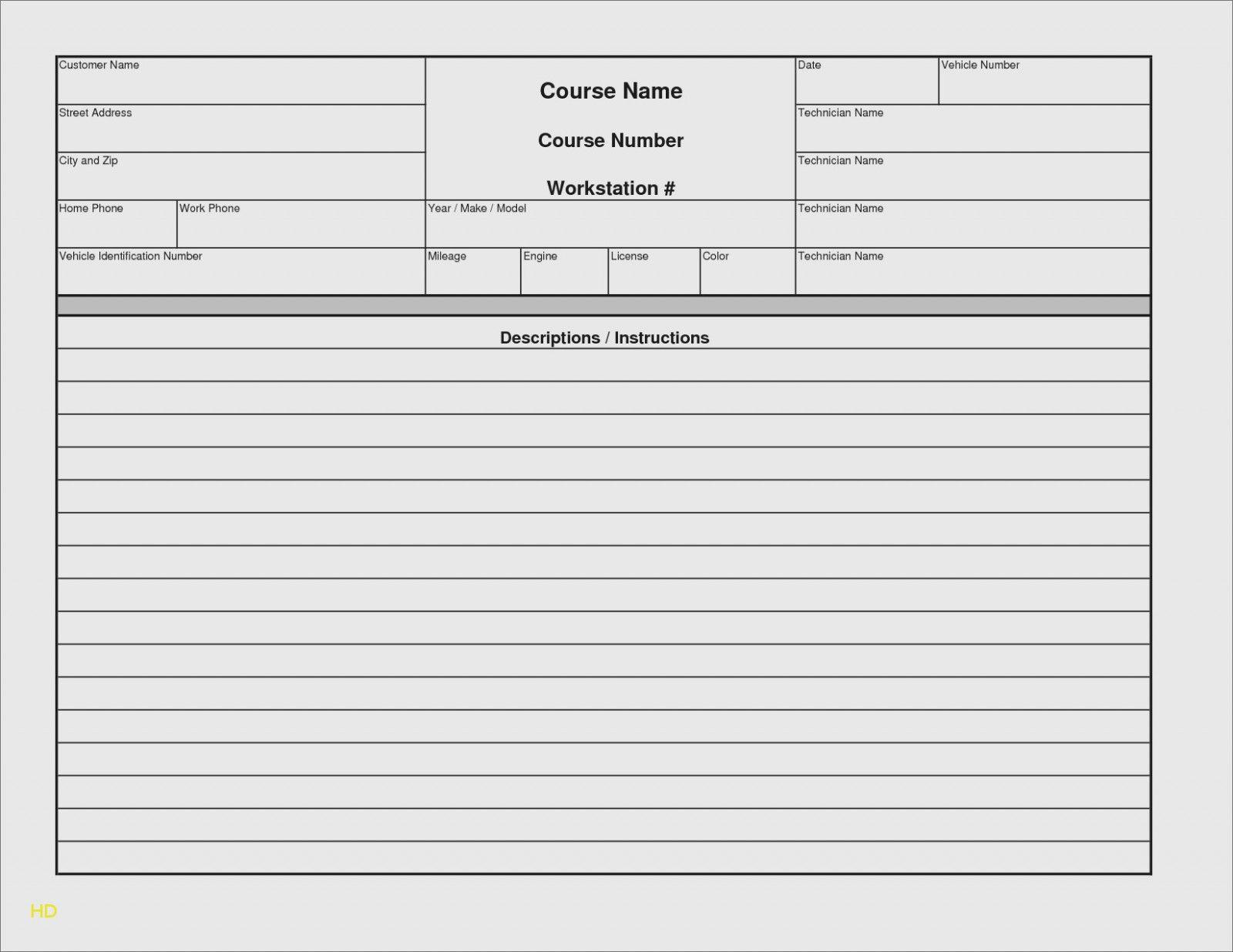 Unique Home Repair Invoice Exceltemplate Xls