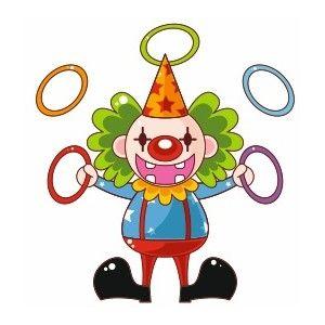 Sticker mural clown jongleur cirque pinterest - Image jongleur cirque ...