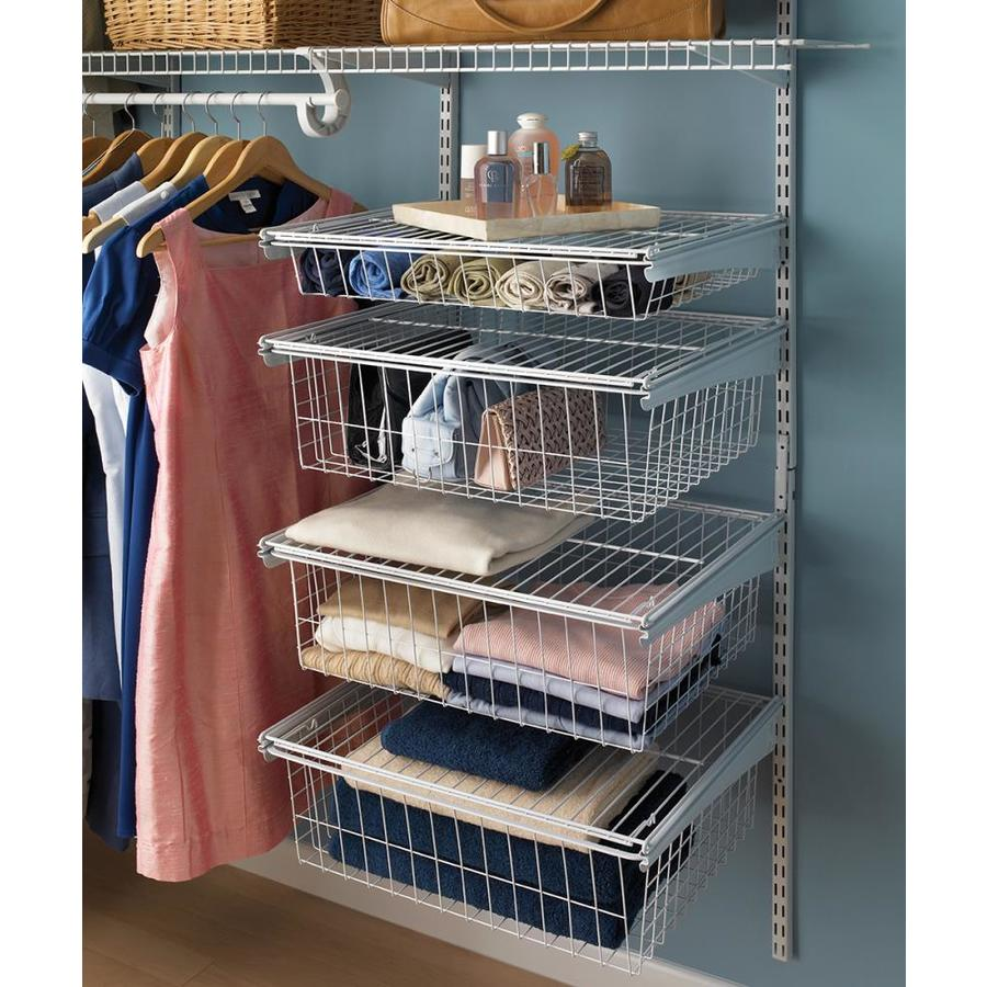 Closetmaid Shelftrack 1 Ft To 2 Ft X 17 In White Wire Closet Kit Lowes Com Closet Kits Wire Closet Kits Wire Closet Shelving