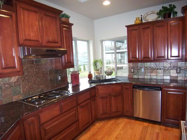uba tuba granite countertop with oak cabinets - Google Search | Home ...