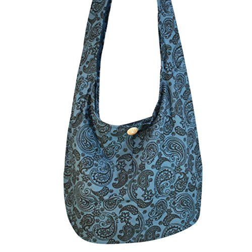 Young Plant Flower Bohemian Bag Shoulder Bag Hippie Bag Crossbody Bag Messenger Bag Grey Blue >>> Continue to the product at the image link.