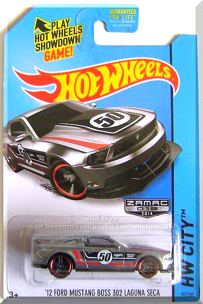 Zamac W Black Interior Clear Windows Black White Red Stripes 50 Boss 302 On Sides Hood Ford Lo Hot Wheels Hot Wheels Toys Hot Wheels Storage