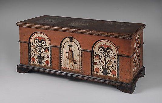 1780 American (Pennsylvania) Dower chest at the Metropolitan Museum of Art, New York