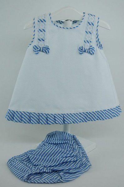 346d61163 Jesusito blanco y marino 3 meses Primer Dia Vestidos De Niña Elegantes