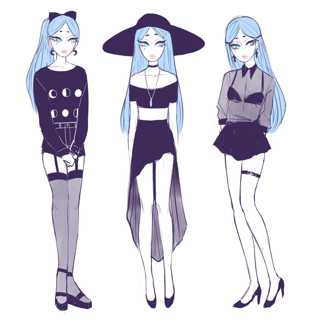 nich0lael: some of adrian's outfits! - Pastel Goth ...