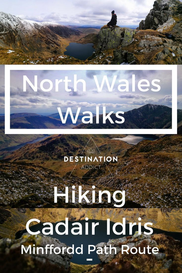 North Wales Walks - Hiking Cadair Idris - Minffordd Path Route