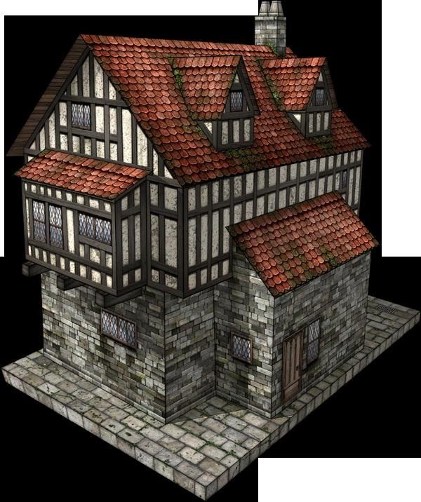 Tudor House 2 Paper Model Daves Games Miniature