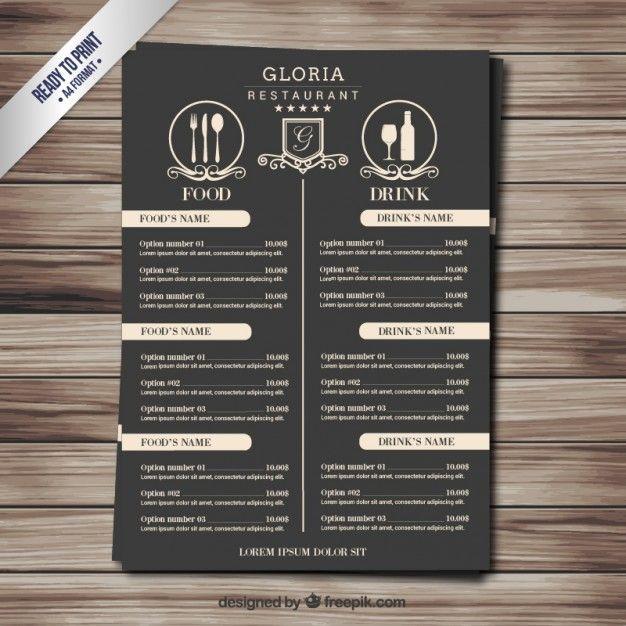 Download Retro Menu For Free Menu Design Template Restaurant Menu Template Restaurant Menu Design