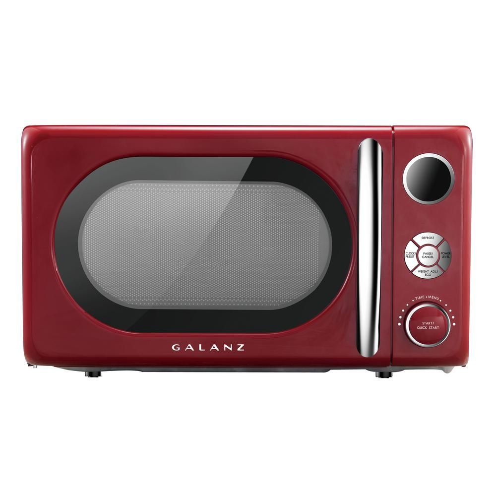 Galanz 0 7 Cu Ft 700 Watt Countertop Microwave In Red Retro