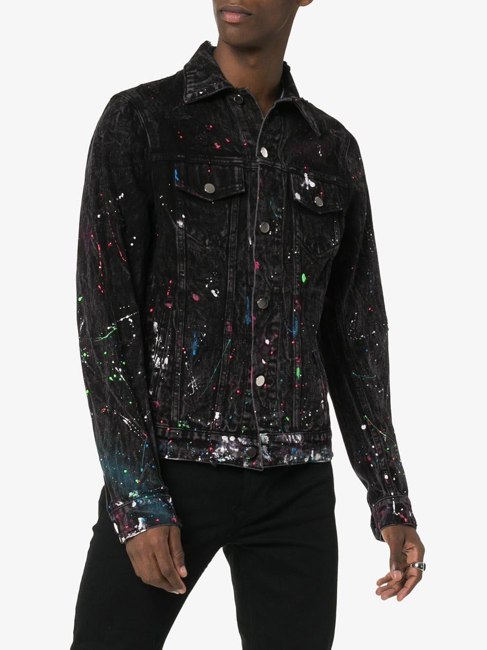 Amiri Paint Splatter Print Denim Jacket Farfetch Printed Denim Printed Denim Jacket Black Denim Jacket [ 1334 x 1000 Pixel ]