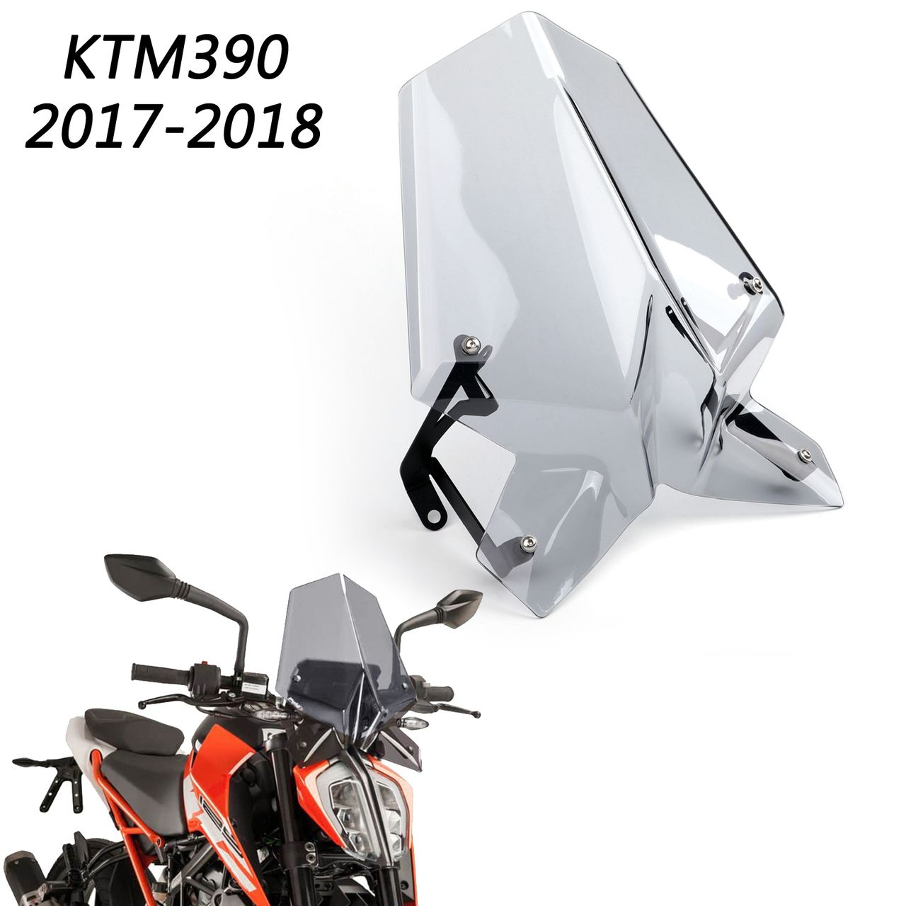Windscreen Windshield Shield with Holder For 2017-2019 KTM