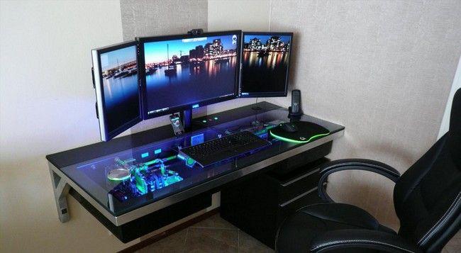 Computer Case Desk Build Stashes Cpu In Plain Sight Gaming Computer Desk Custom Built Computers Custom Computer