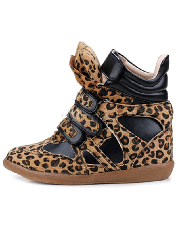 d7286a1495 [$40.99] Popular Round Toe Leopard Print Horse Hair Cool Women's Sneakers